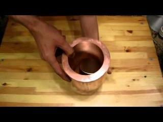 Бросание магнита в медь ЛЕВИТАЦИЯ  cast copper magnet Levitation