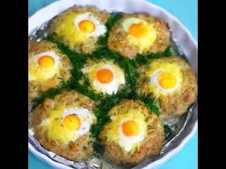 Котлеты с яйцом Оказывается, это очень вкусно ()