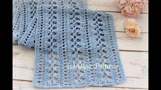 How to Crochet Lacy Summer Scarf with Cotton Yarn, Easy Pattern, Crochet Video Tutorial