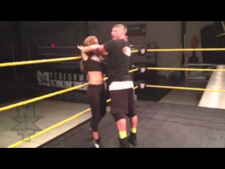 """How is Carmella's training to become the next NXT Diva coming along? Thank goodness """"Big"""