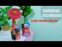 DIY - GARRAFAS DECORADAS ESTILO ROMERO BRITTO| GraziSilc