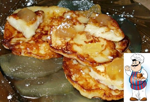 Нежные,вкусные,ароматные яблочные оладьи на кефире