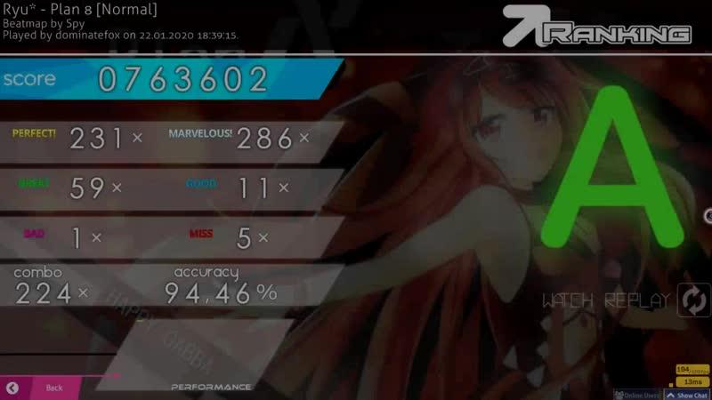 Ryu* - Plan 8 [Normal]   osu!mania   5 miss