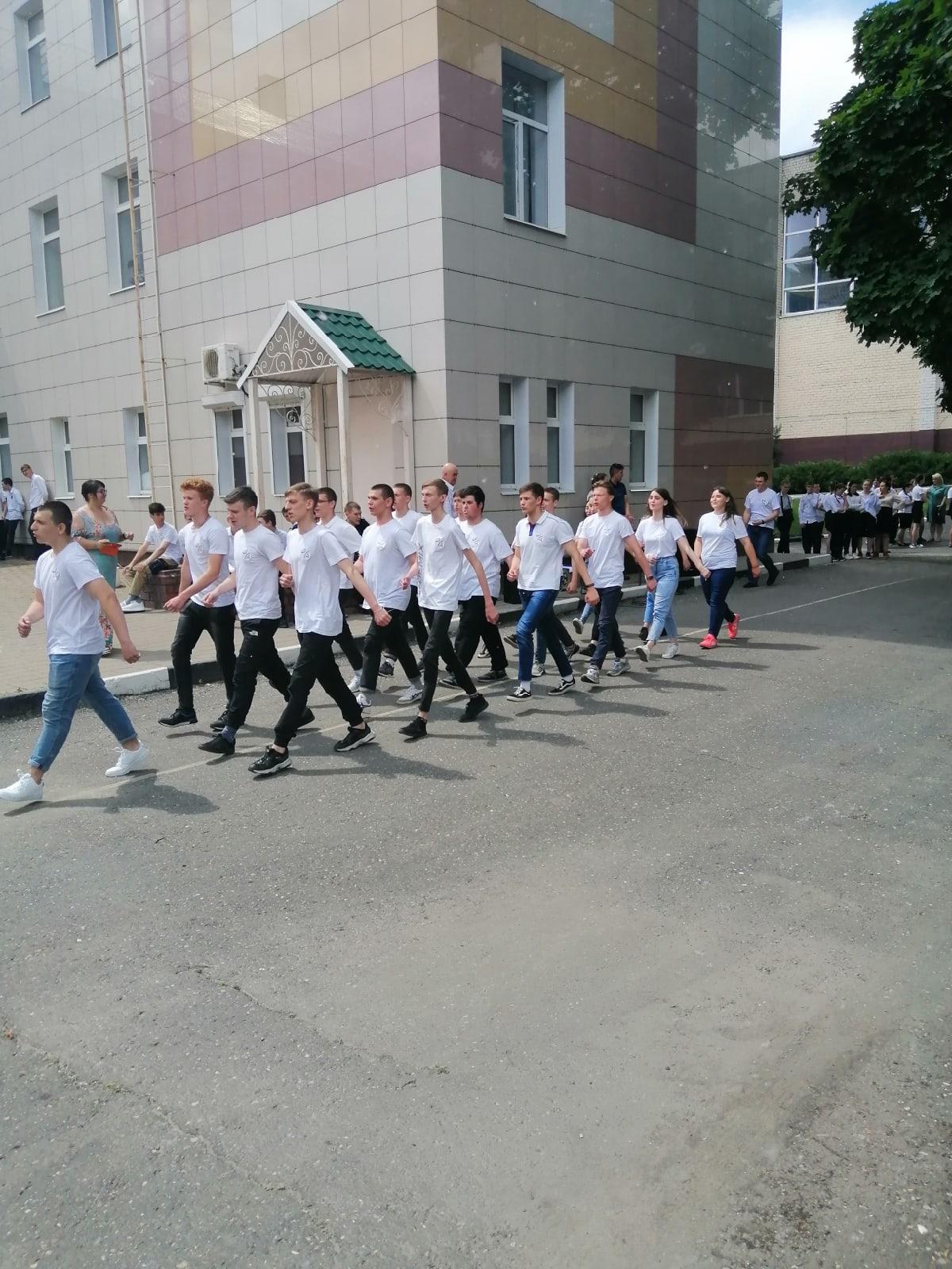 традиционный смотр строя и песни для студентов 1 и 2 курсов, посвящённый Дню России