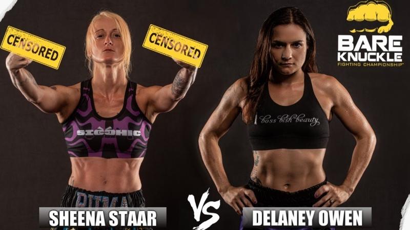 Women's Bare Knuckle Division BKFC 8 Sheena Starr vs Delaney Owens