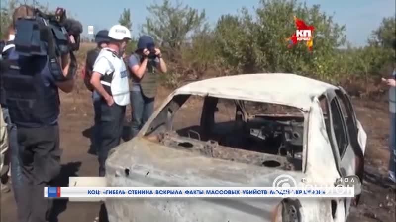Коц гибель Стенина вскрыла факты массовых убийств людей Украиной