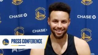 Reggie Miller Surprises Stephen Curry at Postgame Press Conference