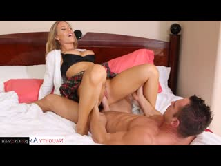 Nicole Aniston & Johnny Castle [ Blondes &  Mothers / Big ass, Skirt, Crempai, horsewoman, Intimate haircut]