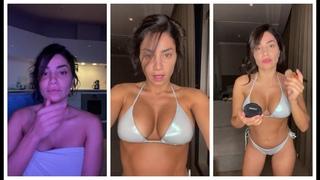 Serpil Cansız Bikinili Makyaj ig live - Instagram Lives ( 17 Ağustos 2021 )