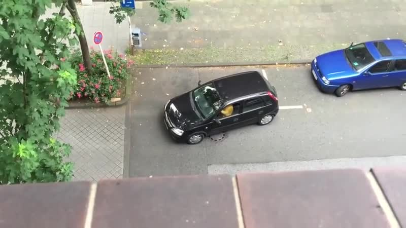 Девушка показывает мастер класс по паркованию