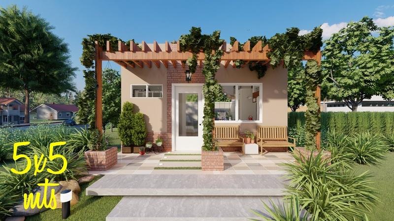 Casa de 5x5 metros | Planos de casas pequeñas