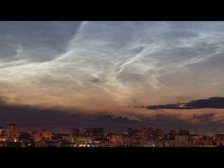 Noctilucent clouds in Ufa. Timelapse
