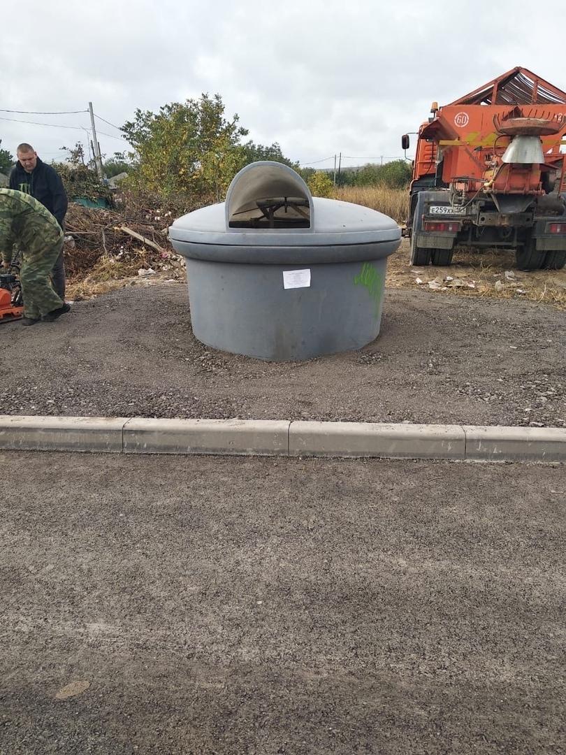 МКУ «Благоустройство»: В СЖМ установлены несколько контейнеров для сбора ТКО заглубленного типа