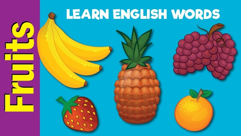 Fruit Names Video Flash Cards Kindergarten Preschool ESL for Kids Fun Kids English