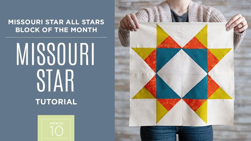 Month 10 All Stars Block of the Month with Jenny Doan of Missouri Star Quilt Co Video Tutorial