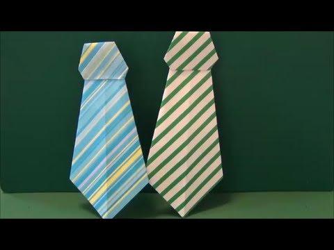 父の日に。「ネクタイ」折り紙On Father's Day. Necktie origami