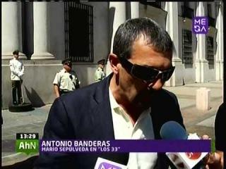 MARIO CASAS Y ACTORES PELICULA LOS 33 VISITAN AL PRESIDENTE SEBASTIAN PINERA MEGANOTICIAS TARDE 01 0