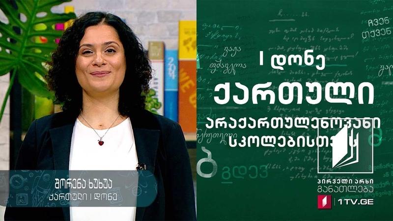 ქართული ენა 1 დონე 3 გაკვეთილი