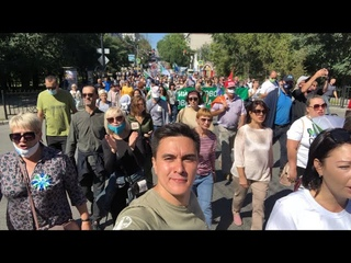Невероятная атмосфера на митингах в Хабаровске! Гостеприимные хабаровчане хотят угостить Путина чаем