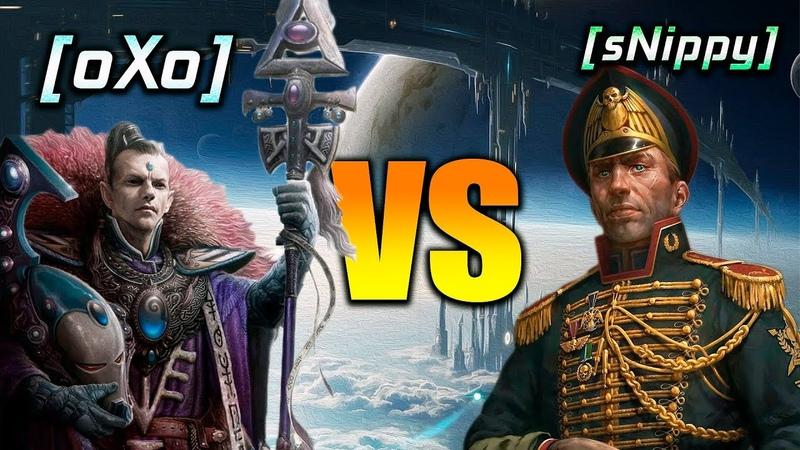 ДВЕ ЛЕГЕНДЫ СЦЕПИЛИСЬ В ЯРОСТНОЙ БИТВЕ oXo Eld vs sNippy Ig Dawn of War Soulstorm