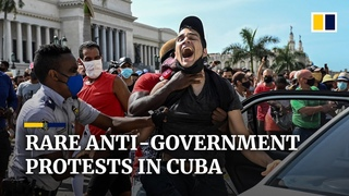Cuba sees largest anti-government protests in decades over coronavirus pandemic and economic woes