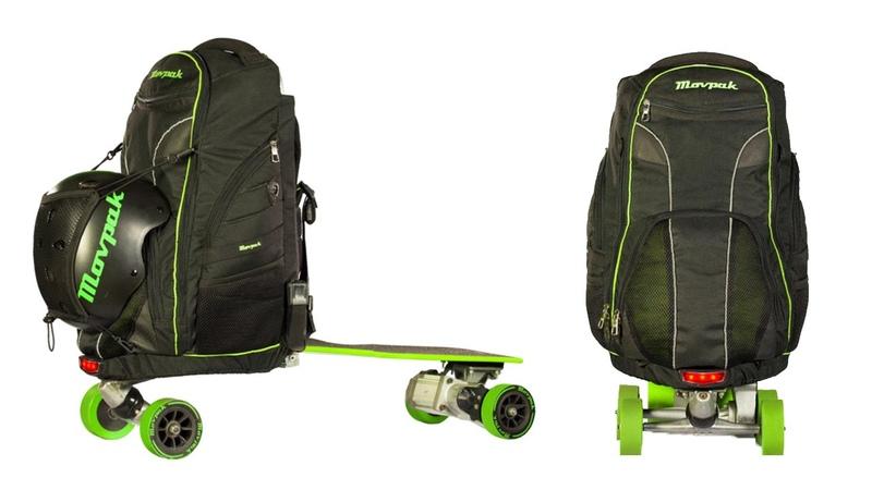 Movpak электрический скейтборд и рюкзак - мобильная платформа Movpak- скейтрюкзак [Indiegogo]