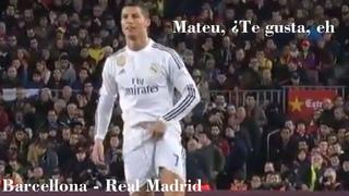 Il gesto di Cristiano Ronaldo a Mateu 'Te gusta, eh?' - Barcellona - Real Madrid