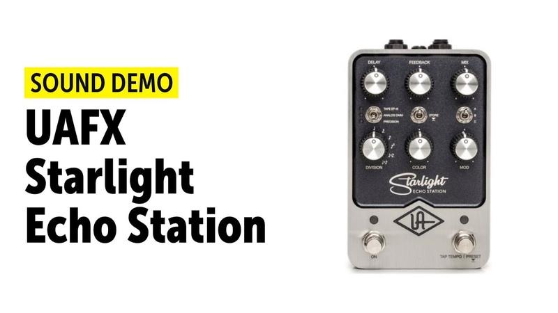 UAFX Starlight Echo Station Sound Demo no talking