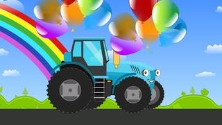 Мультик раскраска про трактор по имени КОША. Развивающие мультики для детей. 0+
