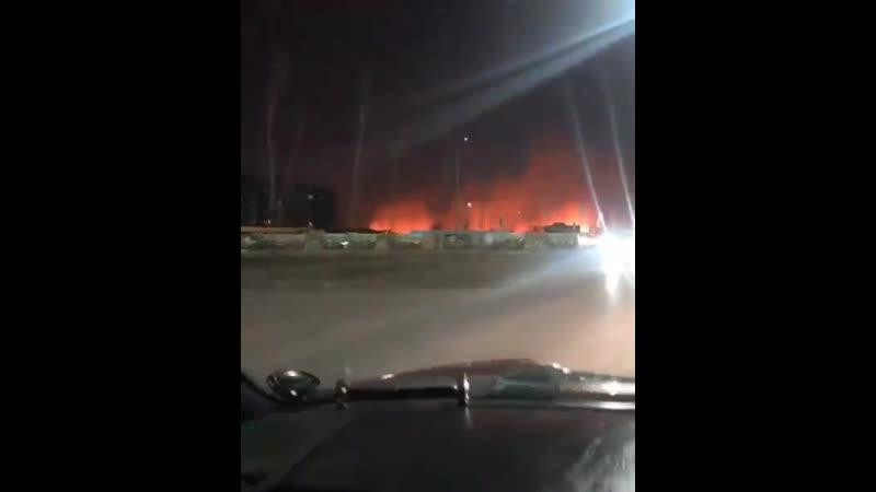 Большой пожар на бензострое 😱