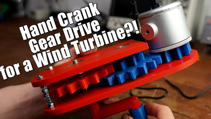 Creating a Hand Crank Gear Drive for a Wind Turbine Fusion 360
