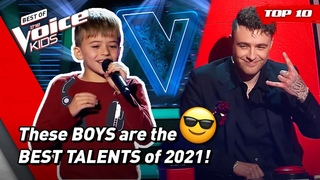 The BEST BOYS Blind Auditions of The Voice Kids 2021! 😎| Top 10