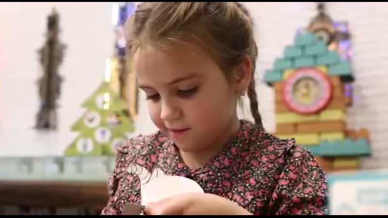Модель агентства Linda Kids в рекламной съемке