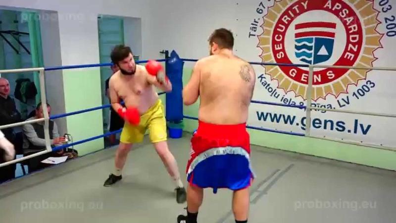 29.01.2015 Eriks Kalašnikovs (LAT) VS Dmitrijs Avsejenkovs (LAT) proboxing.eu