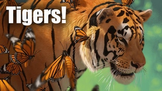 Speed Paint - Tiger butterflies and Tiger