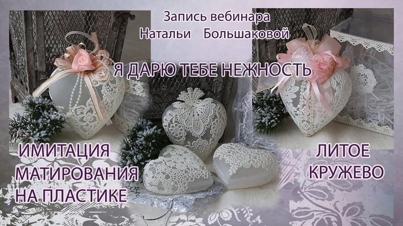 Наталья Большакова декупаж МК Webinar Новогодние игрушки Я дарю тебе нежность