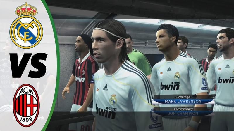 PES 2010 - Real Madrid vs AC Milan - UEFA Champions League 200910 - UCL 200910 - Gameplay HD PC