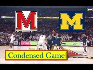 Michigan vs Maryland Basketball Condensed Game 3 8 2020