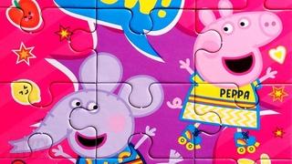 Свинка Пеппа и слоненок Эмили на роликах - собираем пазлы для детей Peppa Pig | Merry Nika