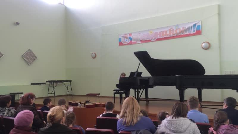 Анастасия Морозова 1 класс Концерт Дебют Во саду ли в огороде