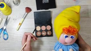 DIY. Гномик-кукла из капрона своими руками. Рукоделие для новичков. Мастер класс. Игрушка