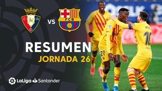 . Чемпионат Испании-2020/2021. Осасуна - Барселона. Обзор матча