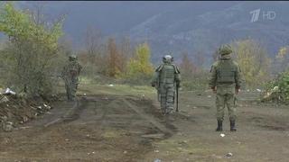 ВНагорном Карабахе российские военные саперы развернули работы поинженерной разведке иразминированию местности. Новости. Первый канал