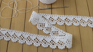 КРУЖЕВО простое вязание крючком МАСТЕР-КЛАСС для начинающих КАЙМА  Easy to Crochet Tape Lace pattern
