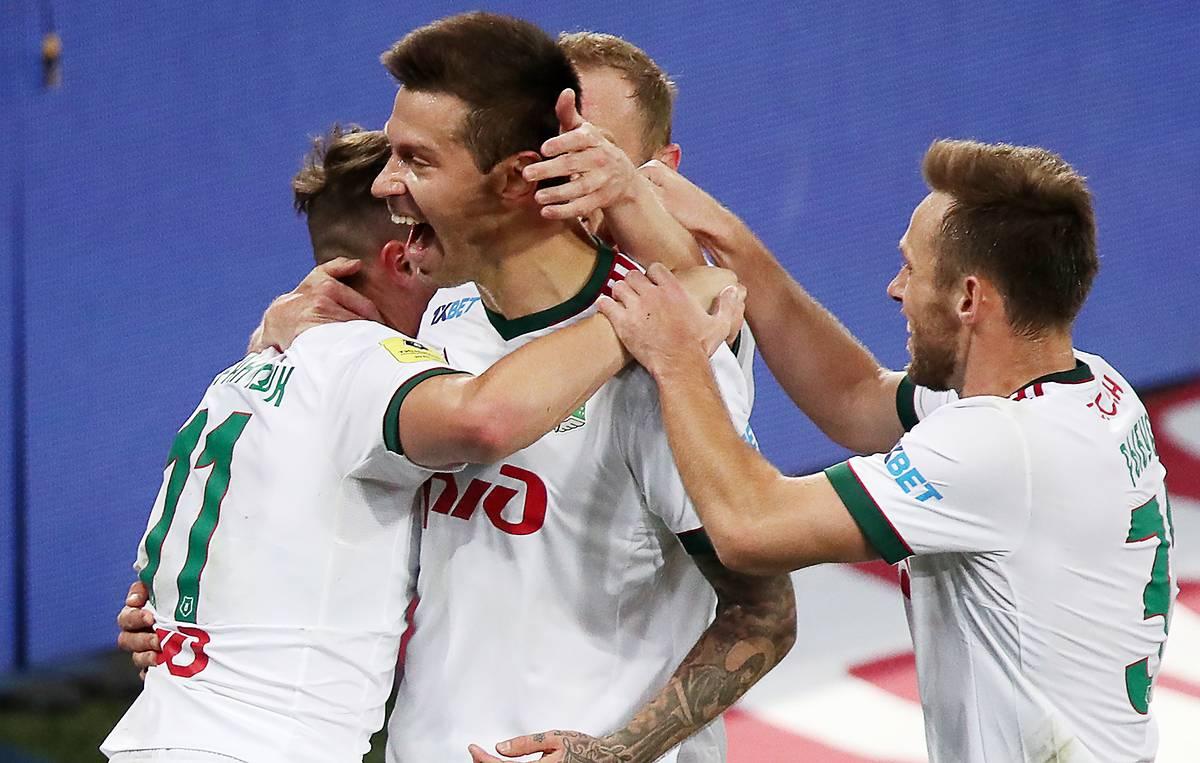 ЦСКА - Локомотив, 0:1. Локомотив празднует гол