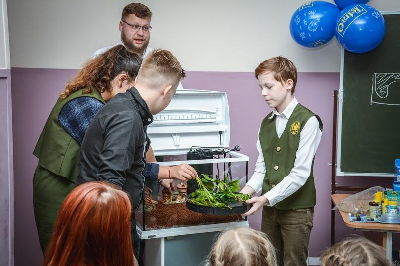 В Православной гимназии 03.12 прошел мастер класс по уходу за аквариумом с живыми растениями и рыбками!, изображение №11
