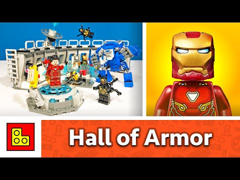 LEGO AVENGERS ENDGAME - Iron Man: Hall of Armor - Stop Motion Build Review by KanoKubik LAB