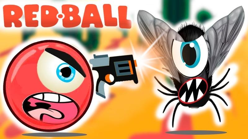 Новый КРАСНЫЙ ШАР 2. Андроид игра New Red Ball 1 веселые приключения летсплей