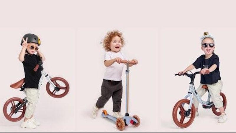 Беговелы WOLLY и FRANKY Самокат TORNADO Спорт 2020 Happy Baby