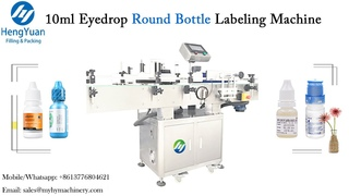10ml Eyedrop ( eyewash ) Round Bottle Labeling Machine